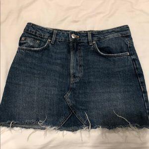 Zara mini denim skirt
